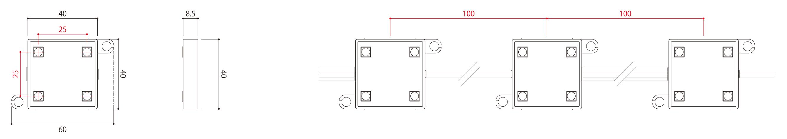 LEDモジュール 光源:SMD5050(3Chip)LED